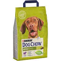 Корм Dog Chow Adult Lamb 2.5 кг для собак усіх порід з яловичиною та ягням