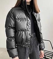 Куртка демісезонна еко шкіра на ситепоне 42-44 44-46