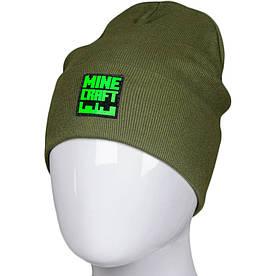 Трикотажная весенняя хлопковая шапка Fero с логотипом, хаки