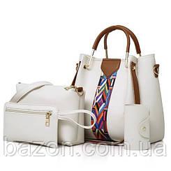 Набор сумок из экокожи MAVKA, цвет белый