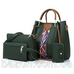 Набор сумок из экокожи MAVKA, цвет зеленый