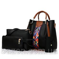 Набор сумок из экокожи MAVKA, цвет черный