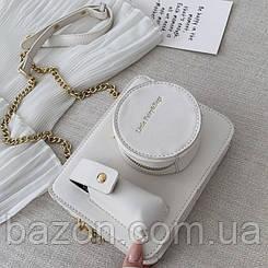 Миниатюрная сумка в виде фотоаппарата MAVKA, цвет белый