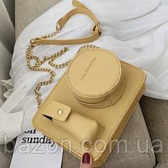 Миниатюрная сумка в виде фотоаппарата MAVKA, цвет желтый
