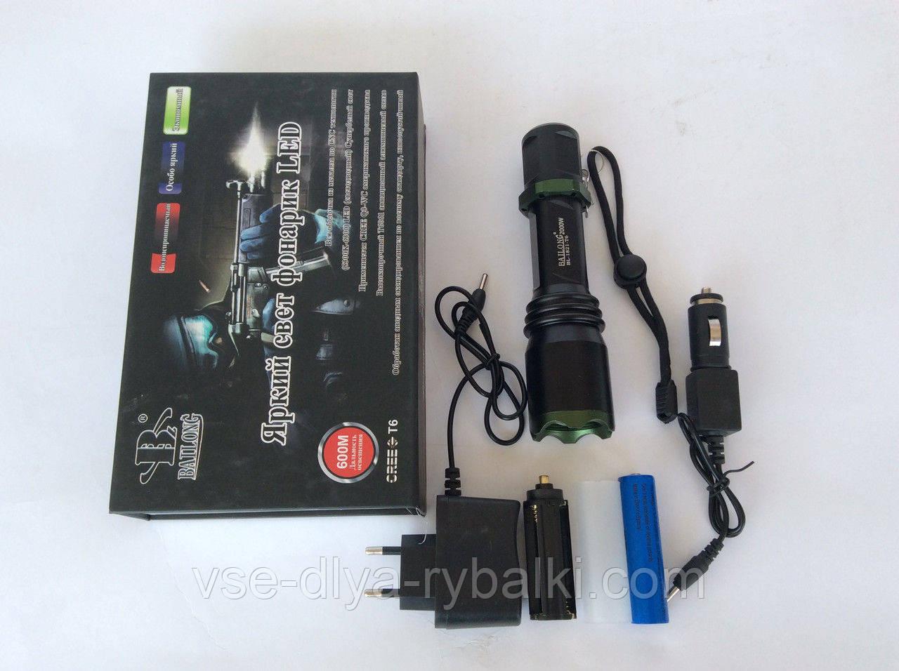 Акумуляторний Ліхтар BL-1825-T6 (2000w)