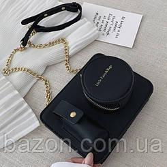 Миниатюрная сумка в виде фотоаппарата MAVKA, цвет черный