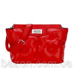 Крупная мягкая сумка шоппер из экокожи MAVKA, цвет красный