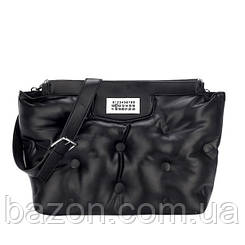Крупная мягкая сумка шоппер из экокожи MAVKA, цвет черный