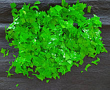 Аксесуари для свята конфеті мішура зелений 100 грам