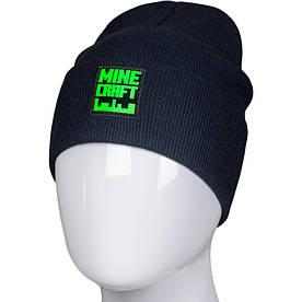 Трикотажная весенняя хлопковая шапка Fero с логотипом, темно-синий