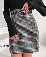 """Спідниця жіноча молодіжна в клітку , розмір 42-46 (2цв) """"MIXMI"""" купити недорого від прямого постачальника"""