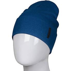 Трикотажная весенняя хлопковая шапка Fero, джинс
