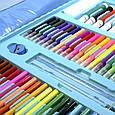 """УЦЕНКА! Набор для рисования с мольбертом в чемоданчике """"Чемодан творчества 208 предметов"""" Голубой (GK), фото 5"""