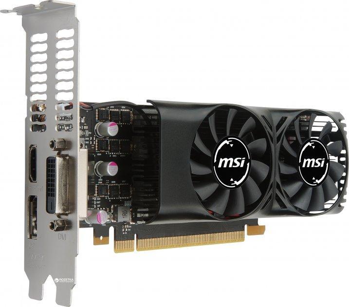 MSI PCI-Ex GeForce GTX 1050 Ti 4GT Low Profile 4GB GDDR5 (128bit) (1290/7008) (DVI, HDMI, DisplayPort) (GTX