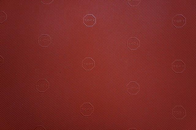 Резина подметочная TOPY   940*600 т.1,0 мм. цвет красный, фото 2