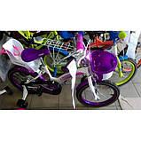 Детский двухколесный велосипед Crosser Kids Bike 20 дюймов детям 7-10 лет фиолетовый, фото 3