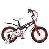 Детский двухколесный велосипед Profi Infinity 14 дюймов на магниевой раме черно-красный матовый. Для детей 3-5, фото 3