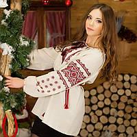 Жіноча вишиванка льон (ручна робота), фото 1