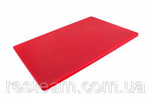 """Дошка двостороння LDPE, 600x400x13 мм, червона """"One Chef"""" Normak"""