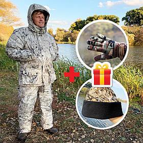 """Зимовий костюм до -40° """"Mavens Тайга"""" Еверест, для риболовлі, полювання, роботи в холоді, розмір 60-62 (031-0019)"""