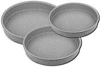 Набор противней с антипригарным покрытием 3 штуки серый OMS 3086-Grey, фото 1