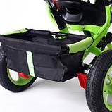 Дитячий триколісний велосипед коляска Baby Trike 6588 з ігровою панеллю і ключем запалювання помаранчевий, фото 8
