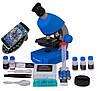 Микроскоп Bresser Junior 40x-640x Blue с набором для опытов и адаптером для смартфона (8851300WXH000)