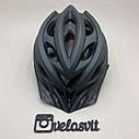 Чёрный матовый велошлем, шлем для велосипеда, фото 3