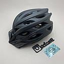 Чорний матовий шолом, шолом для велосипеда, фото 4
