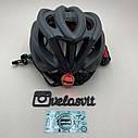 Чёрный матовый велошлем, шлем для велосипеда, фото 2