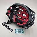 Чёрный матовый велошлем, шлем для велосипеда, фото 5
