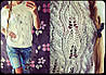 Вязаная кофточка с люриксом (белая, черная), фото 2