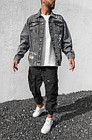 Рубашка джинсовая мужская серого цвета. Джинсовая рубашка мужская серая с принтом.