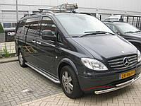 Защита переднего бампер двойная губа 70\48мм Mercedes Viano 2004+ г.в.