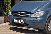 Защита переднего бампер  губа 60мм Mercedes Viano 2004+ г.в.