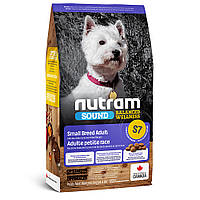 S7 Nutram Sound Balanced Wellness Small Breed Adult Dog сухий корм для дорослих собак малих порід, 2.72 кг