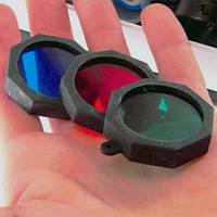Светофильтры для тактического фонаря, модель BL-WD-2 (35 мм), 3 цвета