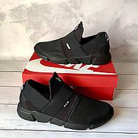 Мужские кроссовки Найк Nike сетка черные