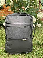 Рюкзак міський для ноутбука Edison 19382 Темно-сірий ( код: IBR179BS )