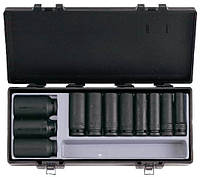 "1/2"" Набор головок 6-гр. глубоких, ударных 11 пр. (12-32 мм) (FORCE 4119)"