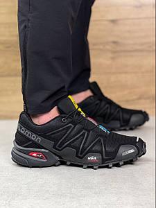 Мужские демисезонные кроссовки Salomon Speedcross 3 Black/Gray