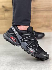 Мужские демисезонные кроссовки Salomon Speedcross 3 Black/White