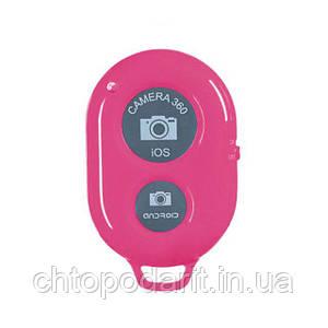 Пульт Bluetooth кнопка для селфи iphone и android розовый Код 37-0005