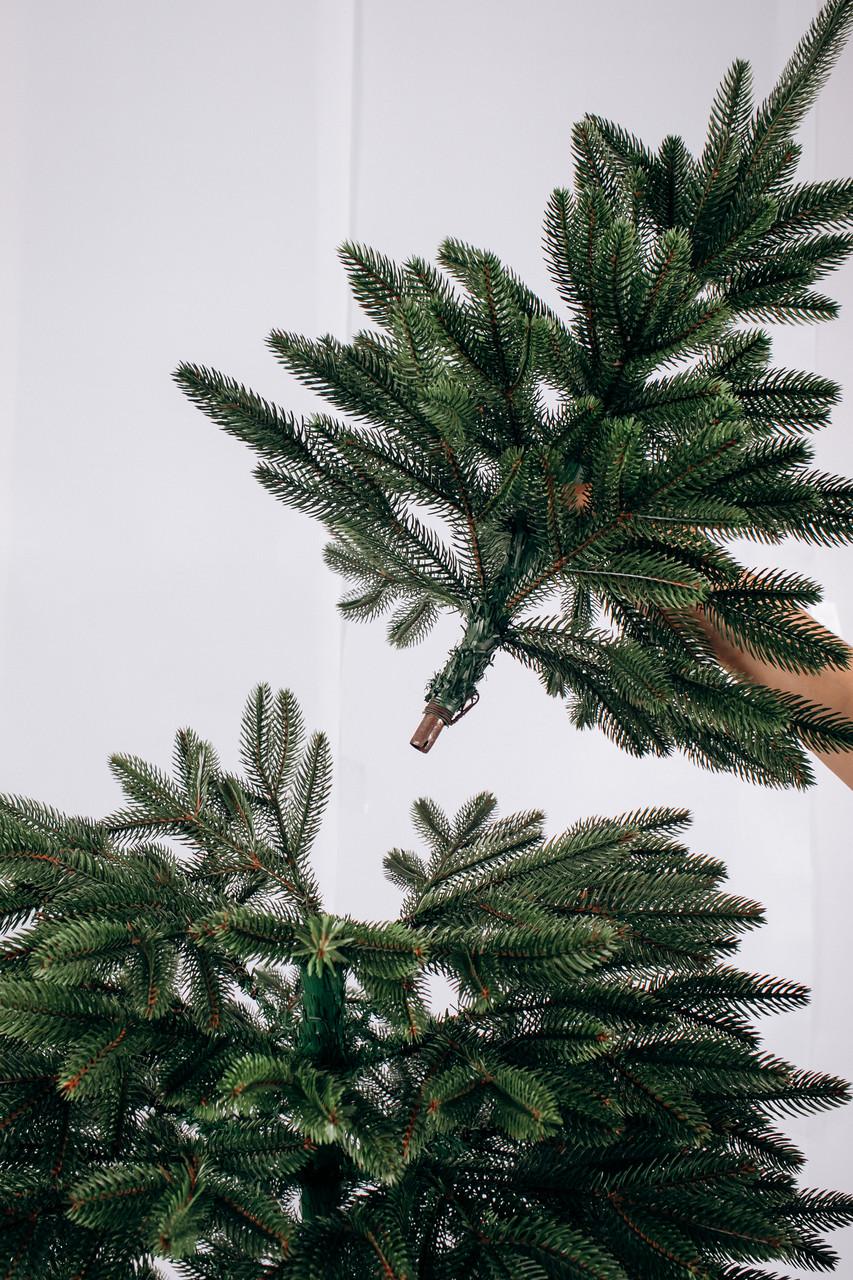 Елка ЛЮКС качества искусственная литая, Литая Бельгийская Зеленая 1,50 м