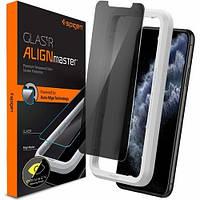Защитное стекло Spigen для iPhone 11 /XR (1шт) - (Антишпион) Privacy, Align (AGL00103)