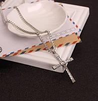 Чоловічий кулон хрест Домініка Торетто з ланцюжком. Оригінал!