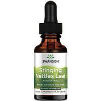 Жидкий экстракт листьев крапивы, Swanson, Stinging Nettles Leaf Liquid Extract, 29.6 мл