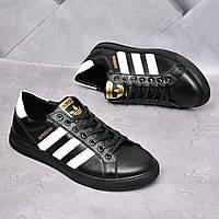 Мужские кожаные кеды Adidas, фото 1