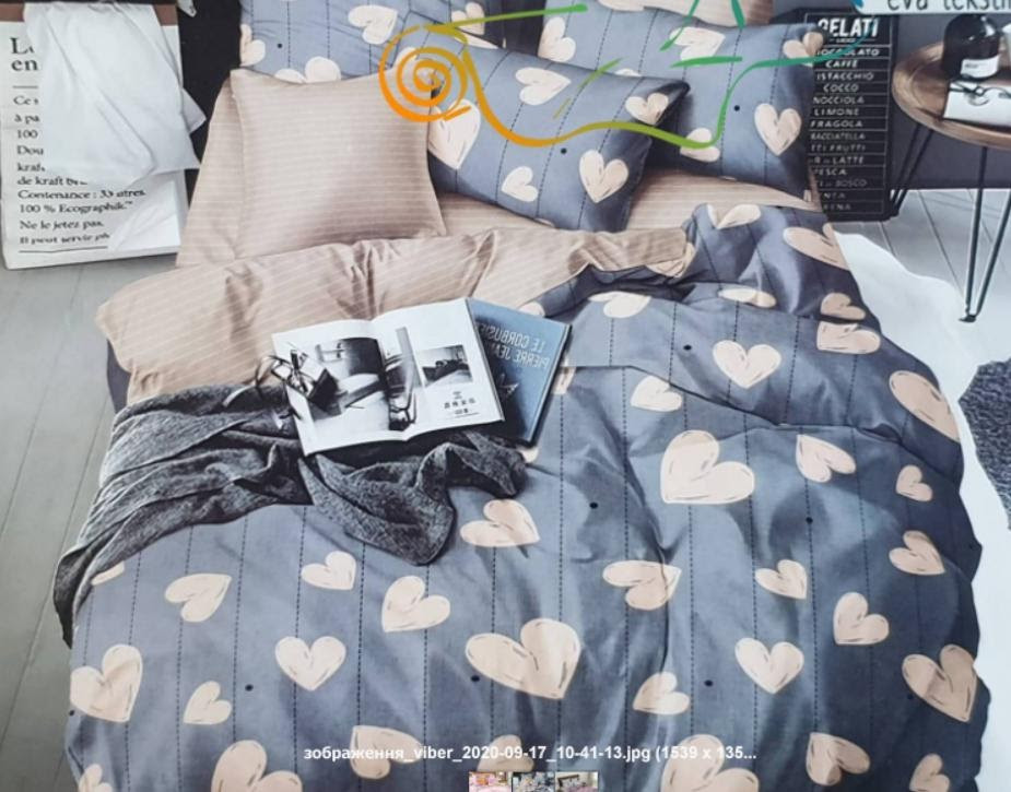 Комплект постельного белья Бязь Gold Размер Евро 200*215