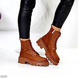 Женские ботинки ДЕМИ коричневые/ рыжие эко кожа, фото 2